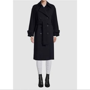 Harris Wharf Oversized Double Breasted Trench Coat